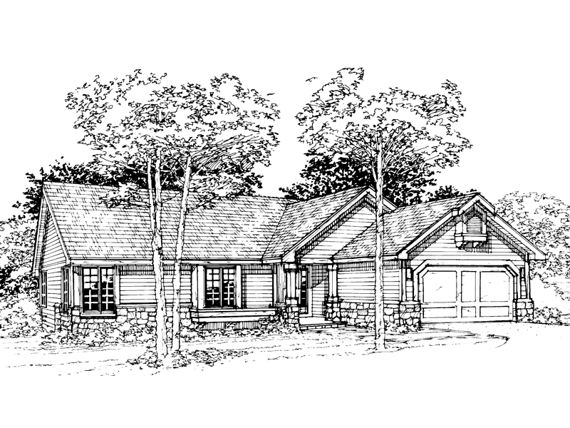 Modern House Plan Front of Home - 072D-0353 | House Plans and More