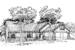 Ranch House Plan Front of Home - 072D-0353 | House Plans and More