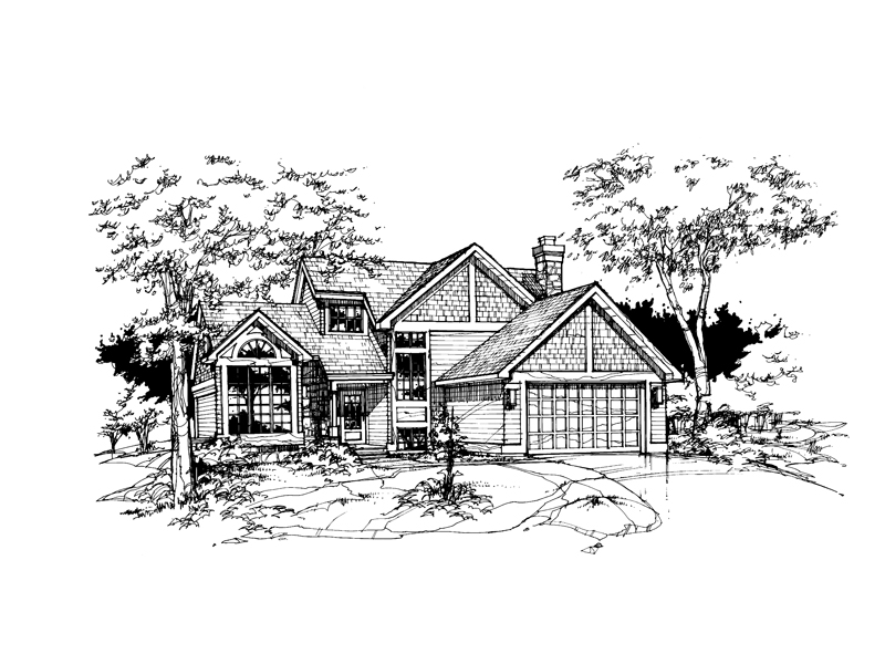 Traditional House Plan Front of Home - 072D-0354 | House Plans and More