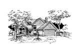 Country House Plan Front of Home - 072D-0354 | House Plans and More