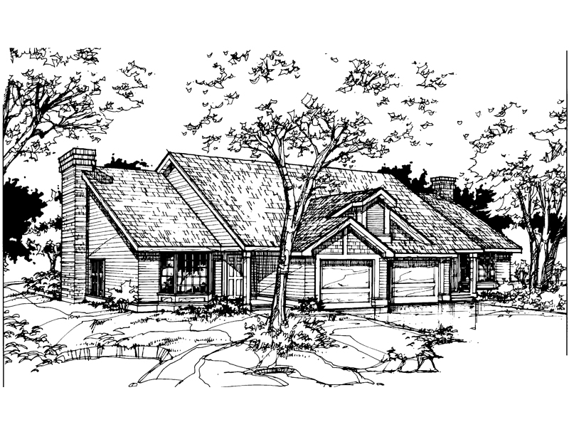 Modern House Plan Front of Home - 072D-0356 | House Plans and More
