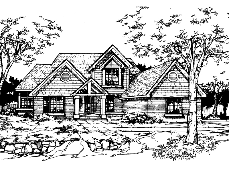 Traditional House Plan Front of Home - 072D-0357 | House Plans and More