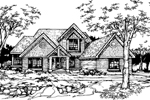 Modern House Plan Front of Home - 072D-0357 | House Plans and More