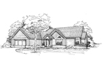 Contemporary House Plan Front of Home - 072D-0358 | House Plans and More