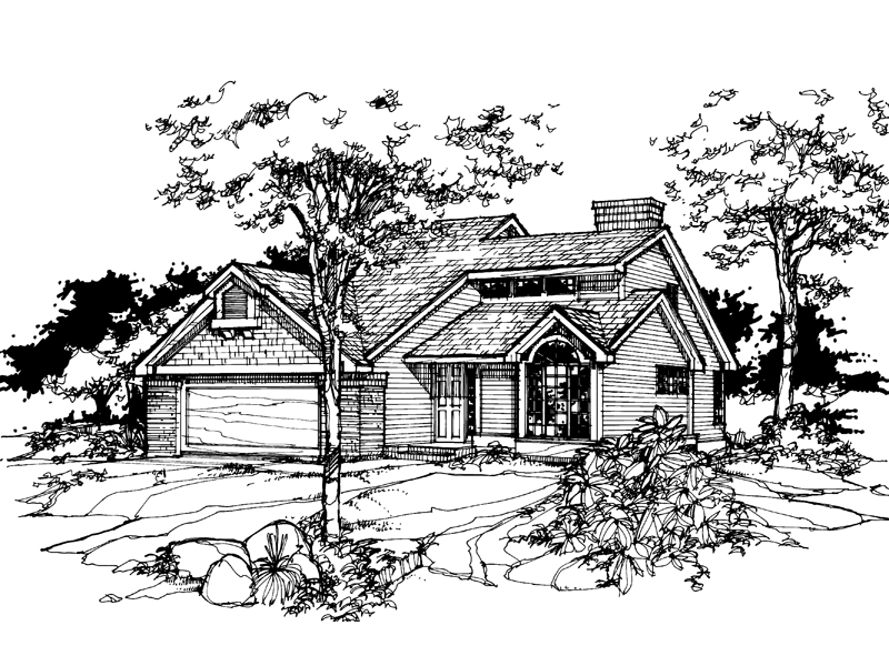 Traditional House Plan Front of Home - 072D-0360 | House Plans and More