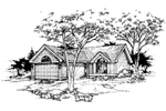 Ranch House Plan Front of Home - 072D-0361 | House Plans and More