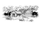 Ranch House Plan Front of Home - 072D-0362 | House Plans and More