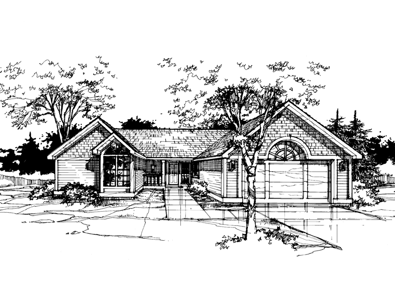 Country House Plan Front of Home - 072D-0363 | House Plans and More