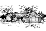 Ranch House Plan Front of Home - 072D-0363 | House Plans and More