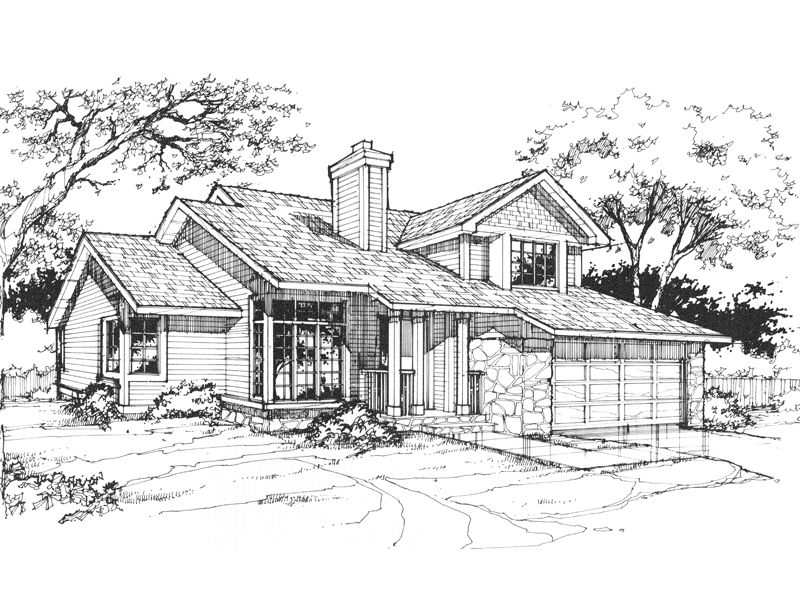 Traditional House Plan Front of Home - 072D-0364 | House Plans and More
