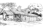 Bungalow House Plan Front of Home - 072D-0364 | House Plans and More