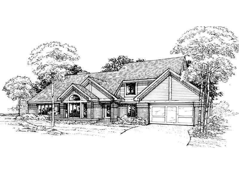 Modern House Plan Front of Home - 072D-0365 | House Plans and More
