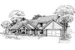 Contemporary House Plan Front of Home - 072D-0365 | House Plans and More