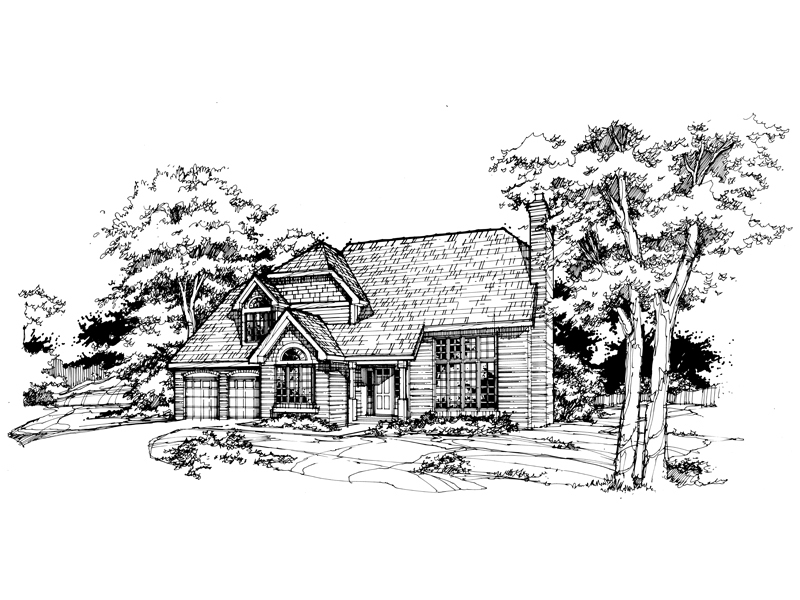 Traditional House Plan Front of Home - 072D-0366 | House Plans and More