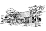 English Tudor House Plan Front of Home - 072D-0366 | House Plans and More
