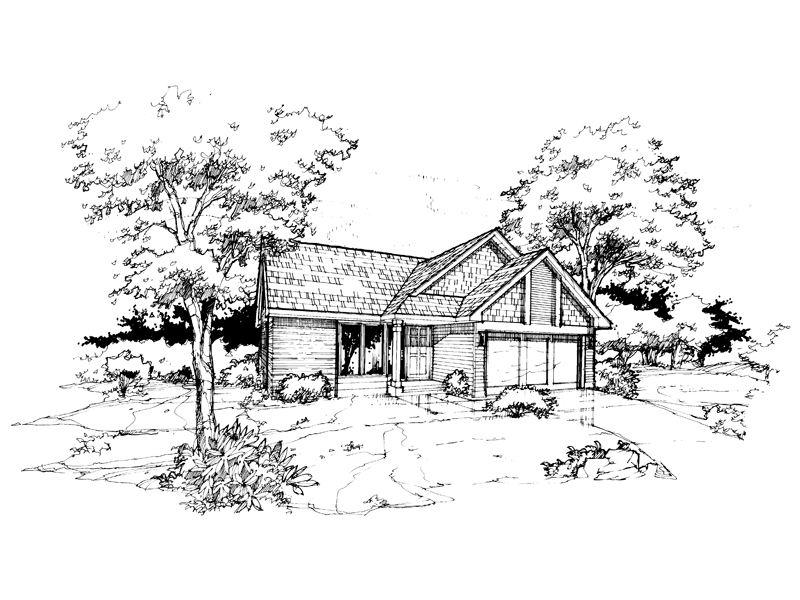 Traditional House Plan Front of Home - 072D-0367 | House Plans and More