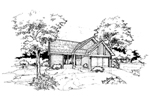 Ranch House Plan Front of Home - 072D-0367 | House Plans and More