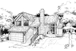 Contemporary House Plan Front of Home - 072D-0368 | House Plans and More