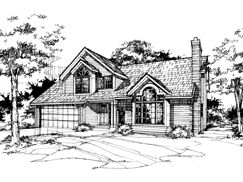 Traditional House Plan Front of Home - 072D-0369 | House Plans and More
