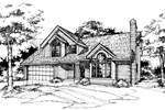 Bungalow House Plan Front of Home - 072D-0369 | House Plans and More