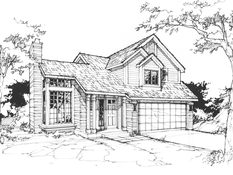 Modern House Plan Front of Home - 072D-0370 | House Plans and More