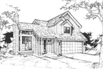Contemporary House Plan Front of Home - 072D-0370 | House Plans and More