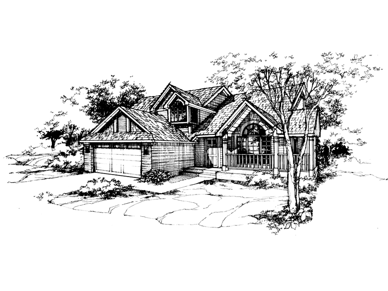 Country House Plan Front of Home - 072D-0371 | House Plans and More