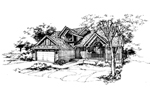 Southern House Plan Front of Home - 072D-0371 | House Plans and More