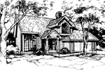Neoclassical Home Plan Front of Home - 072D-0372 | House Plans and More