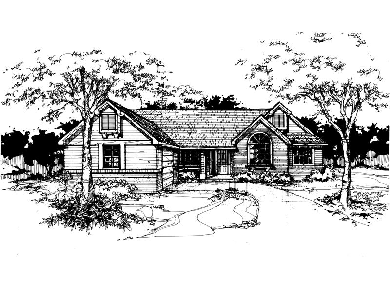 Country House Plan Front of Home - 072D-0373 | House Plans and More