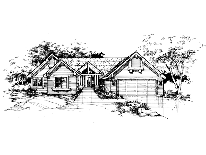 Traditional House Plan Front of Home - 072D-0374 | House Plans and More