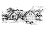 Ranch House Plan Front of Home - 072D-0374 | House Plans and More