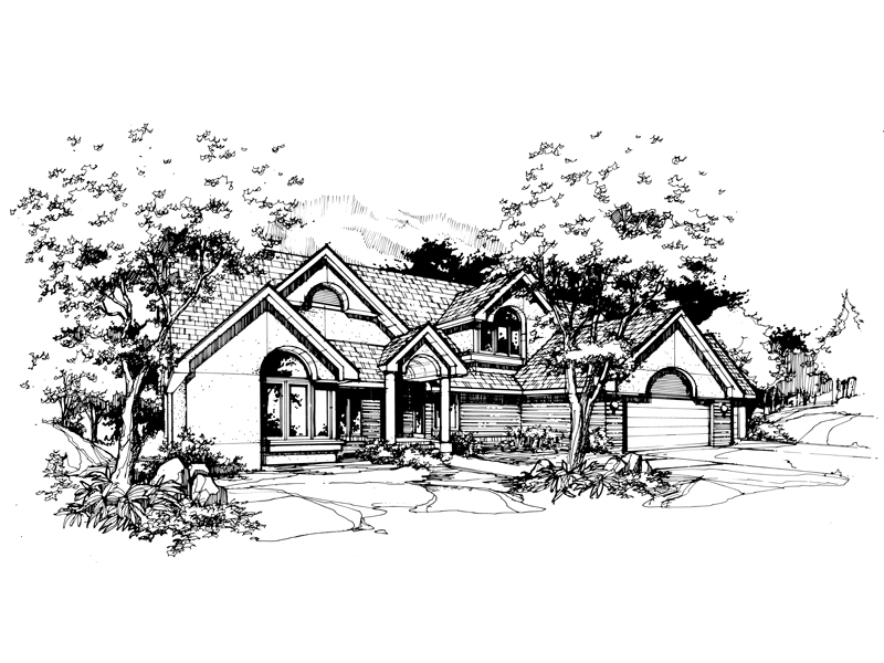 Contemporary House Plan Front of Home - 072D-0375 | House Plans and More