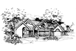 Modern House Plan Front of Home - 072D-0375 | House Plans and More