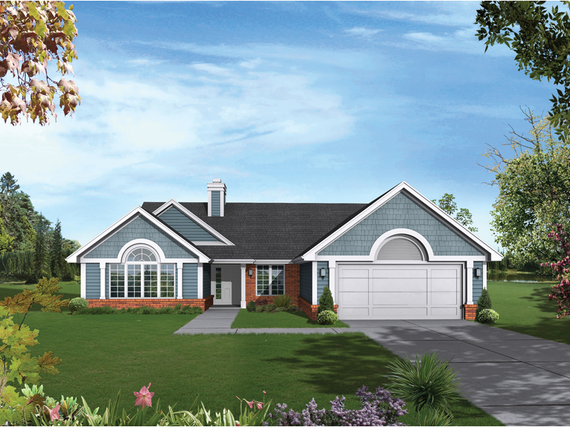 Southern House Plan Front of Home - 072D-0376 | House Plans and More
