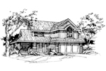Traditional House Plan Front of Home - 072D-0377 | House Plans and More