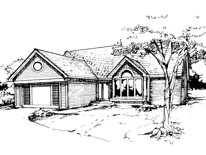 Modern House Plan Front of Home - 072D-0378 | House Plans and More