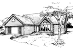 Ranch House Plan Front of Home - 072D-0378 | House Plans and More