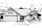 Country House Plan Front of Home - 072D-0379 | House Plans and More