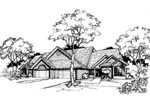 Southern House Plan Front of Home - 072D-0380 | House Plans and More