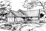 Traditional House Plan Front of Home - 072D-0382 | House Plans and More