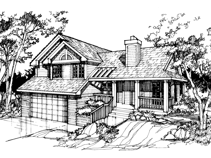 Southern House Plan Front of Home - 072D-0383 | House Plans and More