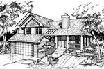 Traditional House Plan Front of Home - 072D-0383 | House Plans and More