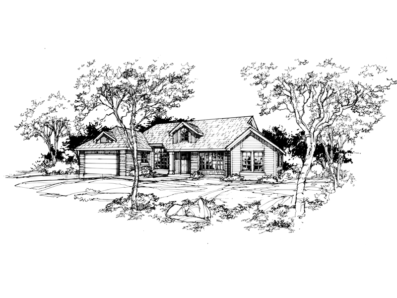 Bungalow House Plan Front of Home - 072D-0384 | House Plans and More