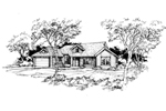 Ranch House Plan Front of Home - 072D-0384 | House Plans and More