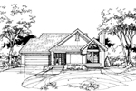 Ranch House Plan Front of Home - 072D-0385 | House Plans and More