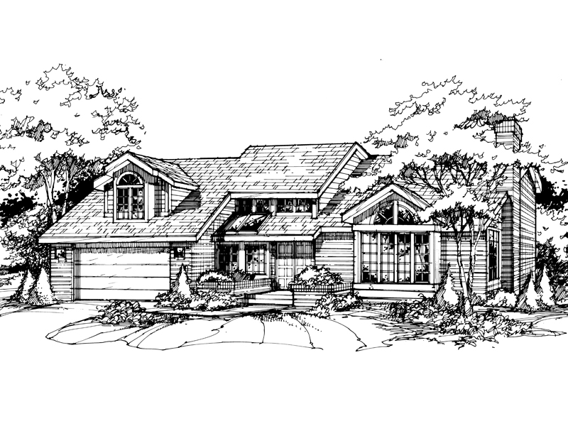 Traditional House Plan Front of Home - 072D-0387 | House Plans and More