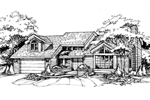 Southern House Plan Front of Home - 072D-0387 | House Plans and More