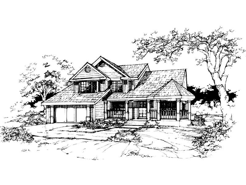 Southern House Plan Front of Home - 072D-0388 | House Plans and More