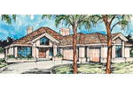 Ranch House Plan Front of Home - 072D-0389 | House Plans and More